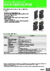 NX-series Position Interface Unit - NX-EC0/ECS/PG0