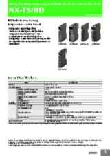 NX-series Temperature Input Unit / Heater Burnout Detection Unit - NX-TS/HB
