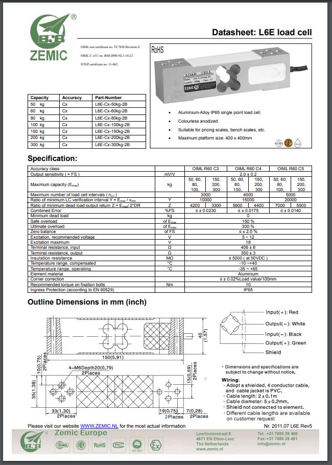 Datasheet L6E (PDF)