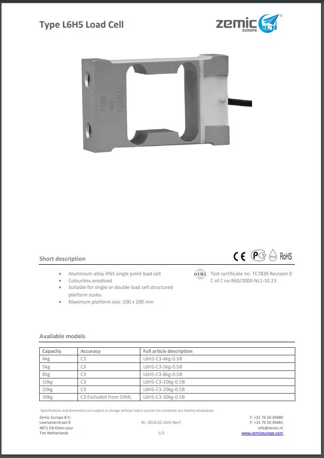 Datasheet L6H5 (PDF)