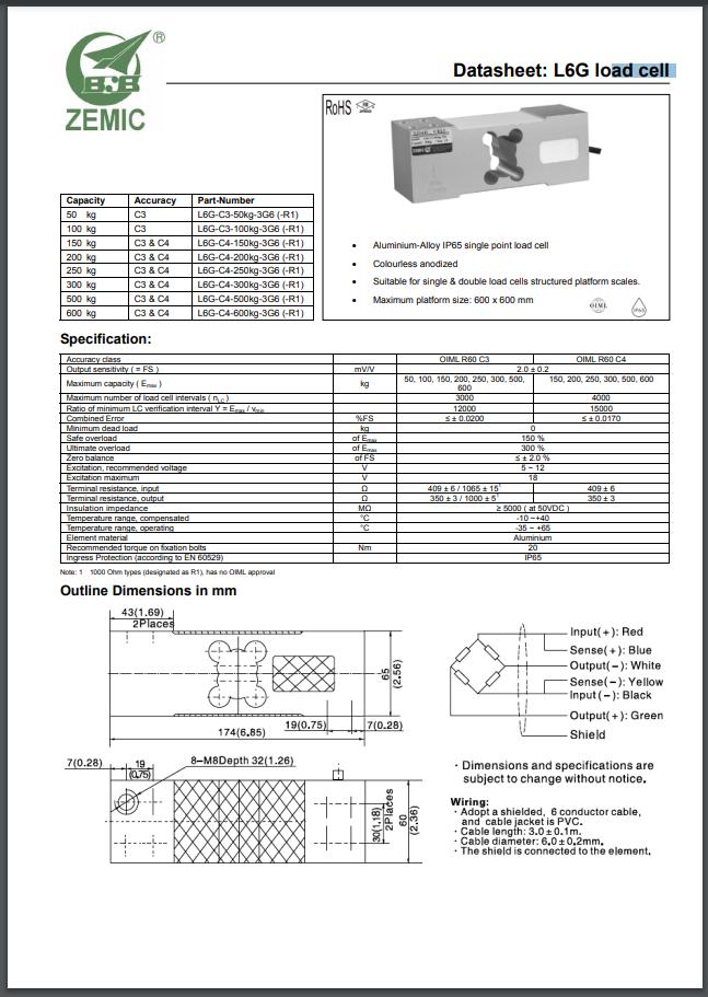 Datasheet L6G (PDF)