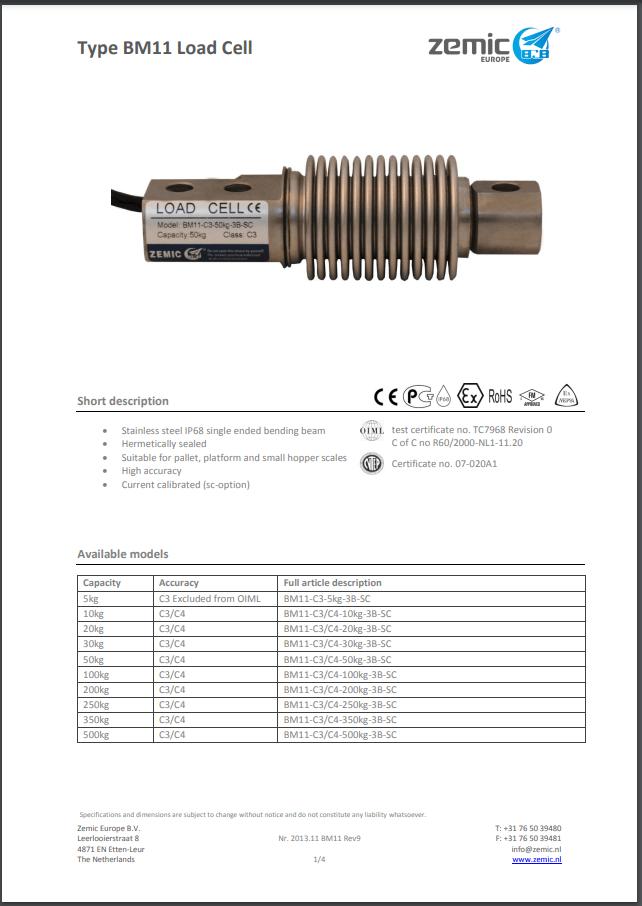 Datasheet BM11 (PDF)