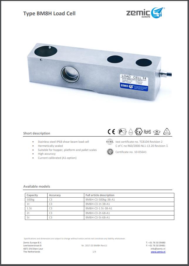 Datasheet BM8H (PDF)